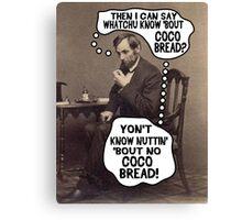 Coco Bread: Presidential Deal Sealer Canvas Print