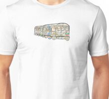 NYC Subway Map on a NYC subway car which goes too NYC, east river, Brooklyn, queens, Bronxs, Manhattan Unisex T-Shirt