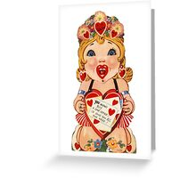 Vintage Valentine love doll Greeting Card