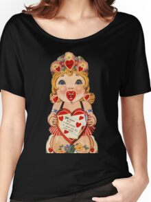 Vintage Valentine love doll Women's Relaxed Fit T-Shirt