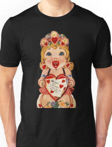 Vintage Valentine love doll Unisex T-Shirt