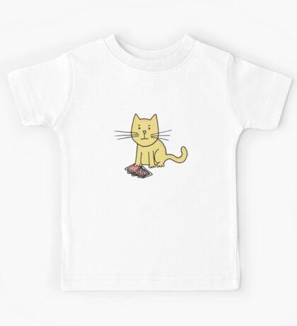 Kitten Loves Poker Kids Tee