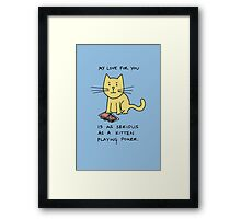 Kitten Loves Poker Framed Print