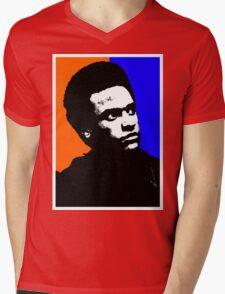 HUEY P. NEWTON Mens V-Neck T-Shirt