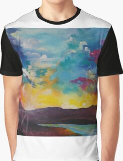 Pixel Sunrise original oil painting  Graphic T-Shirt