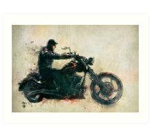Motorcycle Rider  Art Print