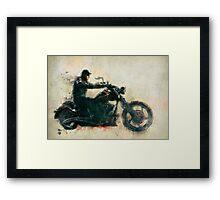 Motorcycle Rider  Framed Print