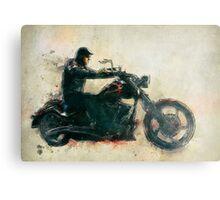 Motorcycle Rider  Metal Print