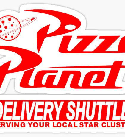 Pizza Planet Delivery Shirt Sticker