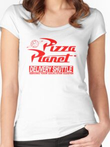 Pizza Planet Delivery Shirt Women's Fitted Scoop T-Shirt