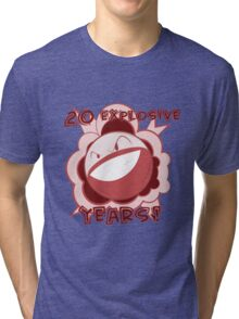 20 Explosive Years of Pokemon! Tri-blend T-Shirt