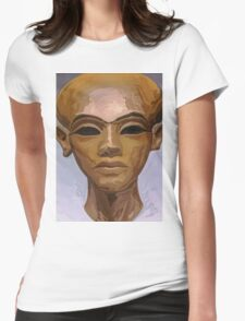 'Heretic King' - Watercolor Akhenaton Bust Womens Fitted T-Shirt