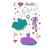 I love ballet Photographic Print