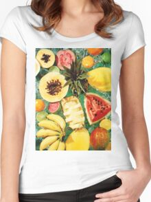 Vintage Fruit Women's Fitted Scoop T-Shirt
