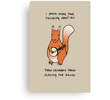 Squirrels Play The Banjo For Your Love Canvas Print