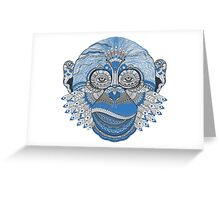 Psychedelic Monkey Greeting Card