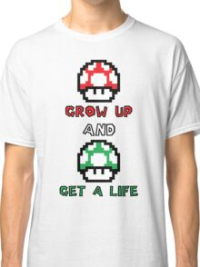 Super Mario Grow Up And Get A Life Classic T-Shirt