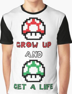 Super Mario Grow Up And Get A Life Graphic T-Shirt