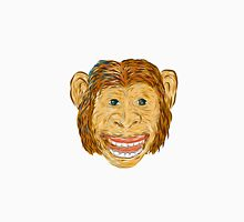 Chimpanzee Head Front Isolated T-Shirt