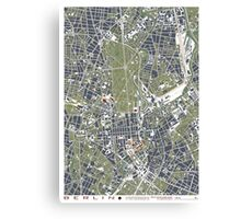 Berlin city engraving map Canvas Print