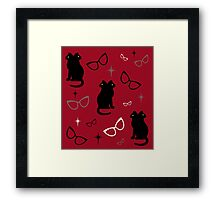 Siamese Cat's Eye Glasses Framed Print