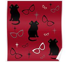 Siamese Cat's Eye Glasses Poster