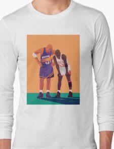 Michael Jordan and Charles Barkley Long Sleeve T-Shirt