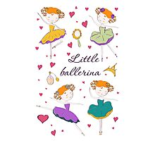 Little ballerina and accessories Photographic Print