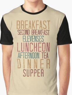 7 Hobbit Meals - Breakfast, Second Breakfast, Elevenses . . .  Graphic T-Shirt