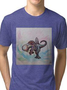 Watercolor Spnosaurus Tri-blend T-Shirt