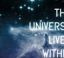The Universe Lives Within Us All - NdGT Quote Sticker