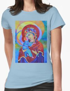 Virgin Mary with Child Jesus icon Womens Fitted T-Shirt