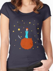 BOWIE LIFE ON MARS Women's Fitted Scoop T-Shirt