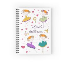 Little ballerina and accessories Spiral Notebook