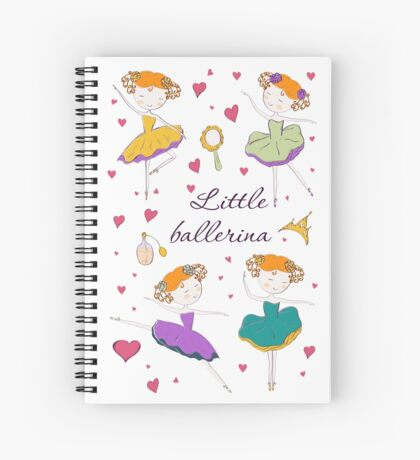 Little ballerina and accessories Spiral Notebook