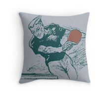 Ping pong, retro vector expressionist Throw Pillow