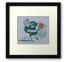 Ping pong, retro vector expressionist Framed Print