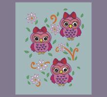 cute little owls Kids Tee