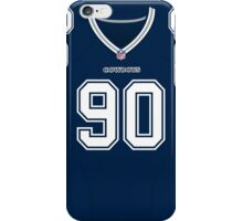Dallas Cowboys DeMarcus Lawrence Color Jersey iPhone Case/Skin