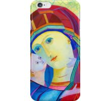 Madonna with infant Jesus icon  iPhone Case/Skin