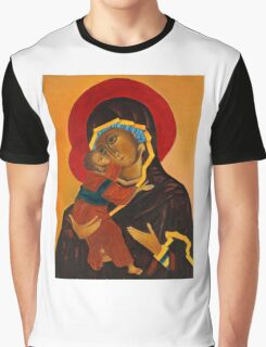 Holy Mary with Child byzantine icon Graphic T-Shirt