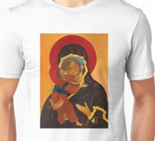 Holy Mary with Child byzantine icon Unisex T-Shirt