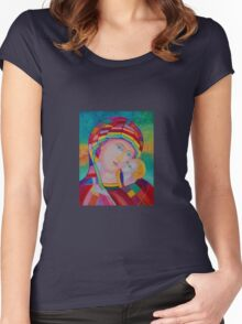 Blessing Mother of God icon Women's Fitted Scoop T-Shirt