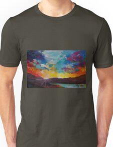 Pixel Sunrise original oil painting  Unisex T-Shirt