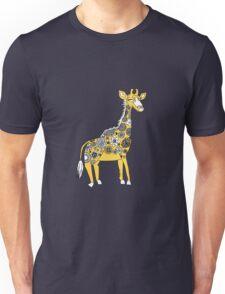 Giraffe with Flower Spots Unisex T-Shirt