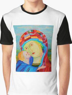 Our Lady Santa Maria nursing Christ holy icon Graphic T-Shirt