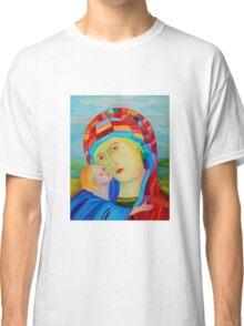 Our Lady Santa Maria nursing Christ holy icon Classic T-Shirt