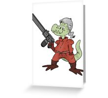 Dino Soldier Greeting Card