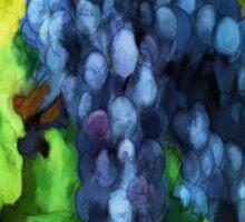 'Forbidden Fruit' - Watercolor Grapes Sticker
