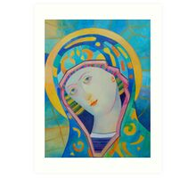 Queen of Heaven, Madonna Virgin Mary icon Art Print